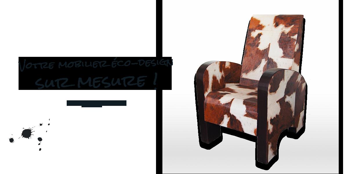 Création de fauteuil en carton sur mesure